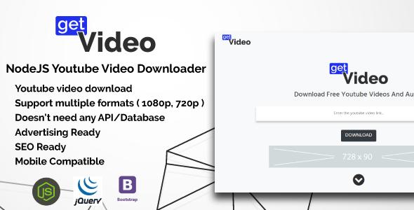 GetVideo - NodeJS Youtube Video Downloader | poster design