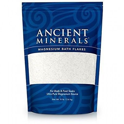 Bath Salts: Ancient Minerals Magnesium Bath Flakes (8 Lbs), New, Free Shipping BUY IT NOW ONLY: $34.59