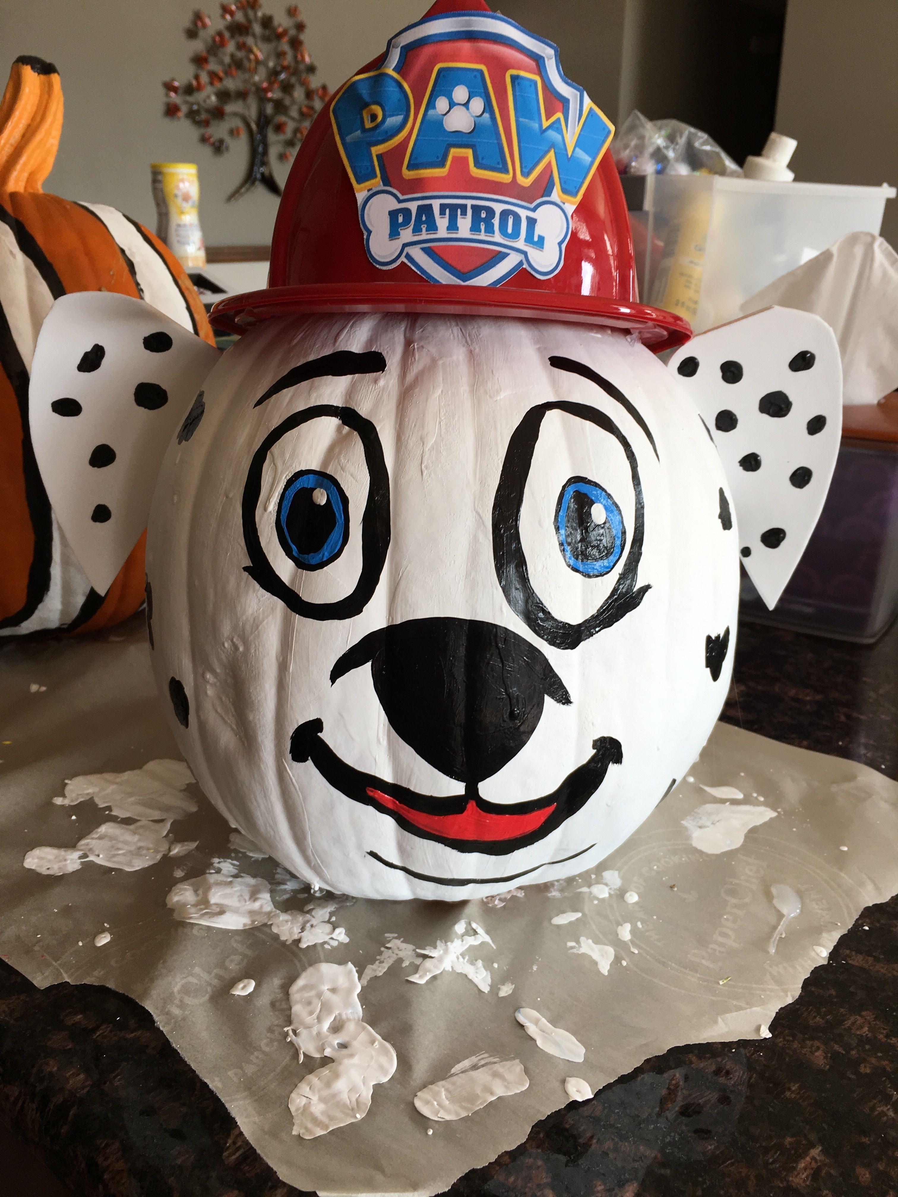 Paw Patrol Pumpkin Marshall Painted Pawpatrol