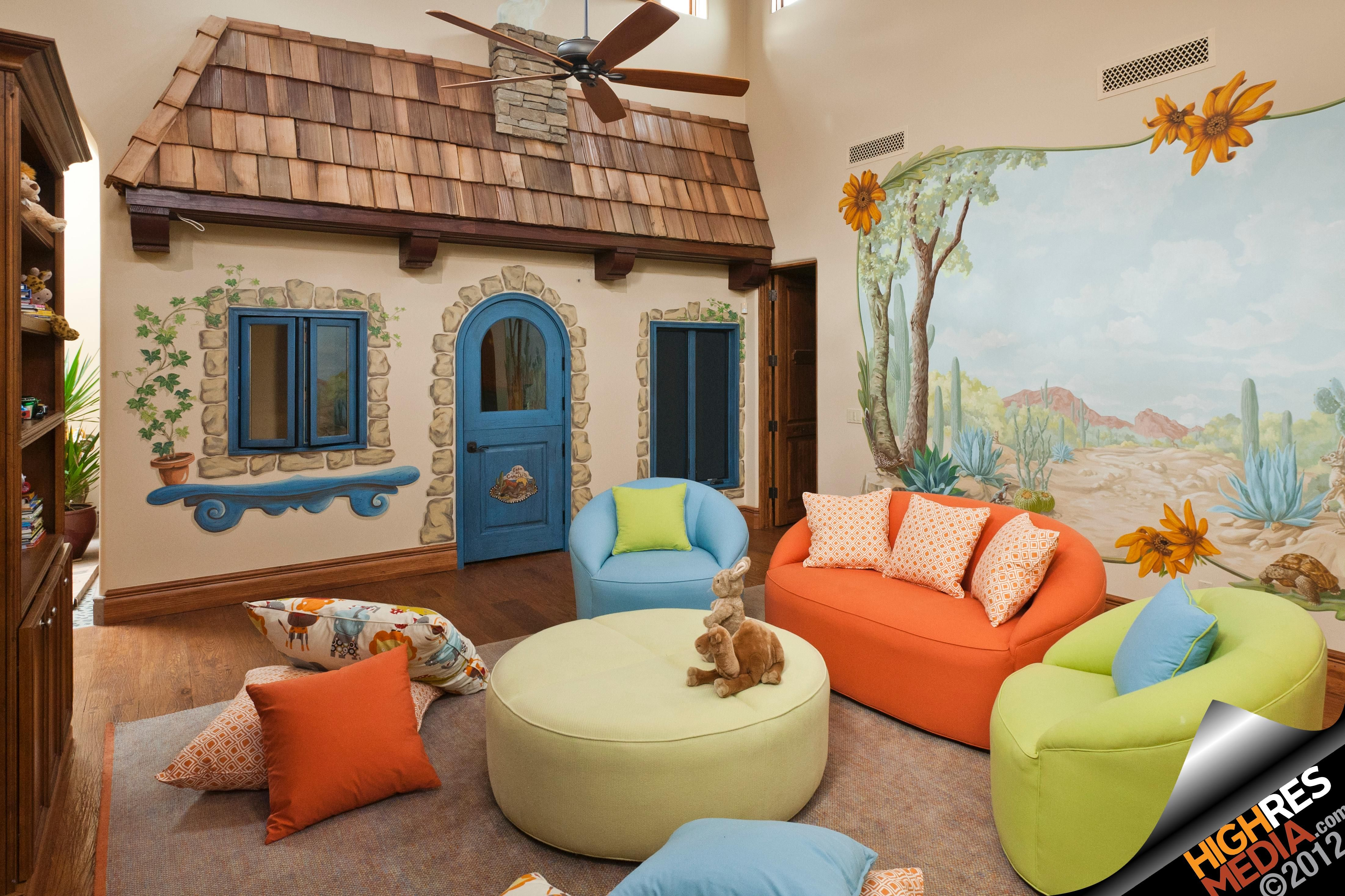 Awesome Playroom With Colorful Couches Photo Taken In Scottsdale