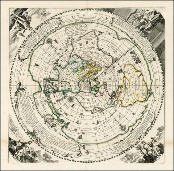 Flat Earth Map, Four Corners of the Earth | Resources and Links