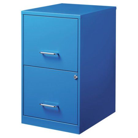 Space Solutions 18in 2 Drawer Metal File Cabinet Pink Walmart Com In 2021 Filing Cabinet Drawer Filing Cabinet 2 Drawer File Cabinet