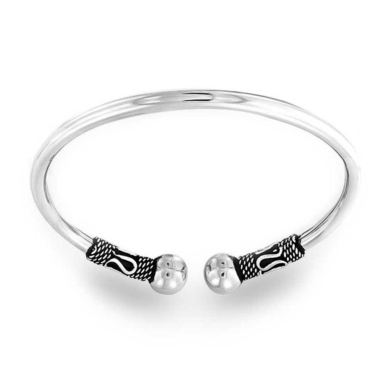 Bling jewelry bali style rope style oxidized cuff bangle bracelet