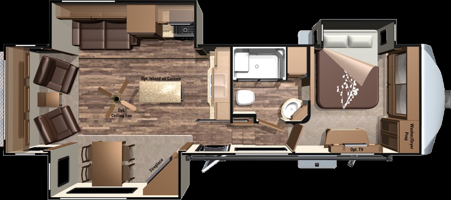 2017 Roamer Fifth Wheels Rf337rls By Highland Ridge Rv Travel Trailer Floor Plans Travel Trailers For Sale Travel Trailer