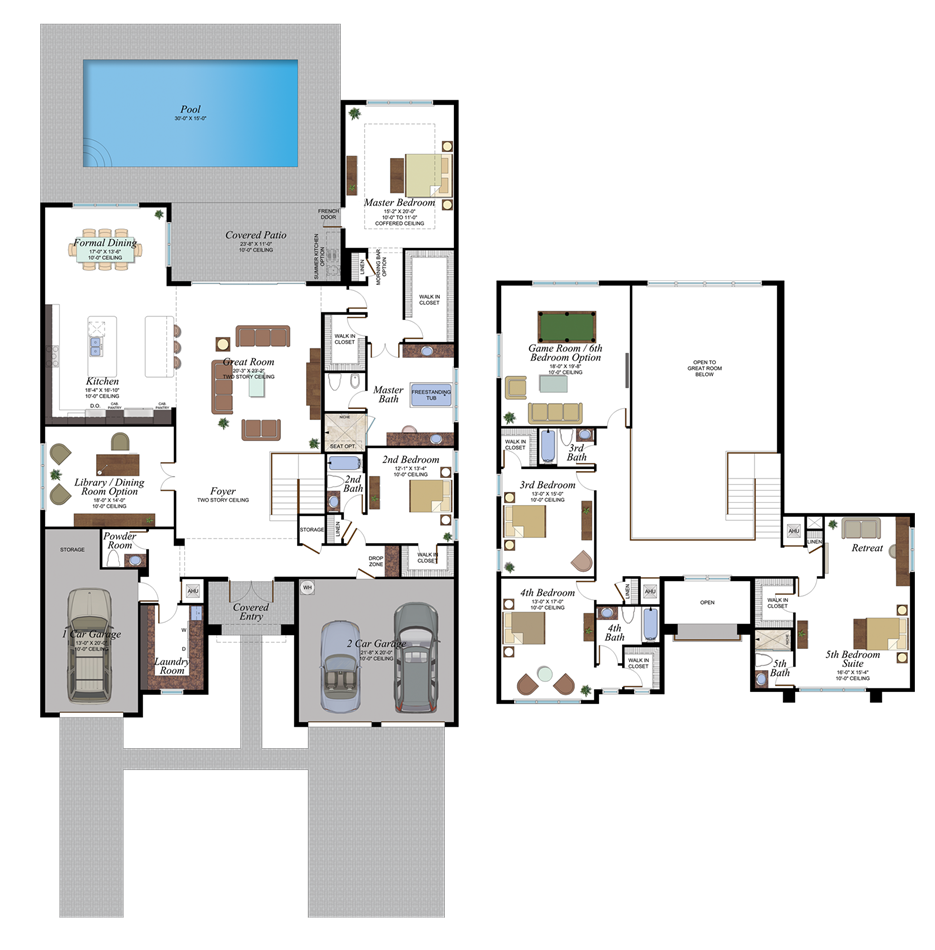 Malibu 3 Floor Plan In 2020 My House Plans House Layout Plans New House Plans