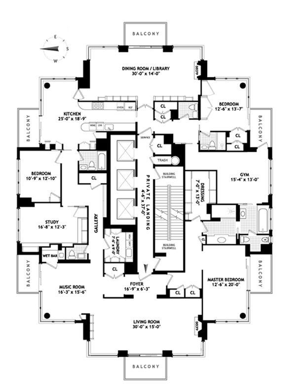 Full Floor Trump Palace Pad Wants 17 Million For Six Balconies Floor Plans Apartment Floor Plans How To Plan