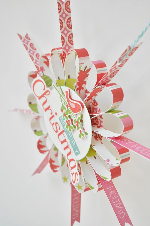 Tutorial for Holiday Ornament from Scrapbook Paper