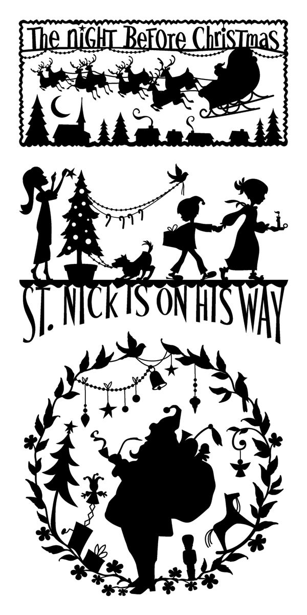silhouettes - Think of the possibilities... for Christmas projects ...