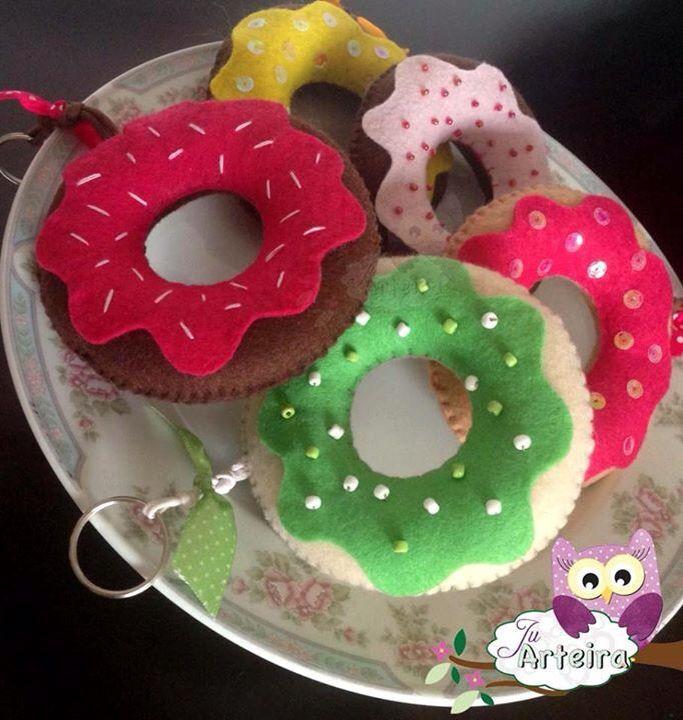 Donuts de Feltro #JuArteira