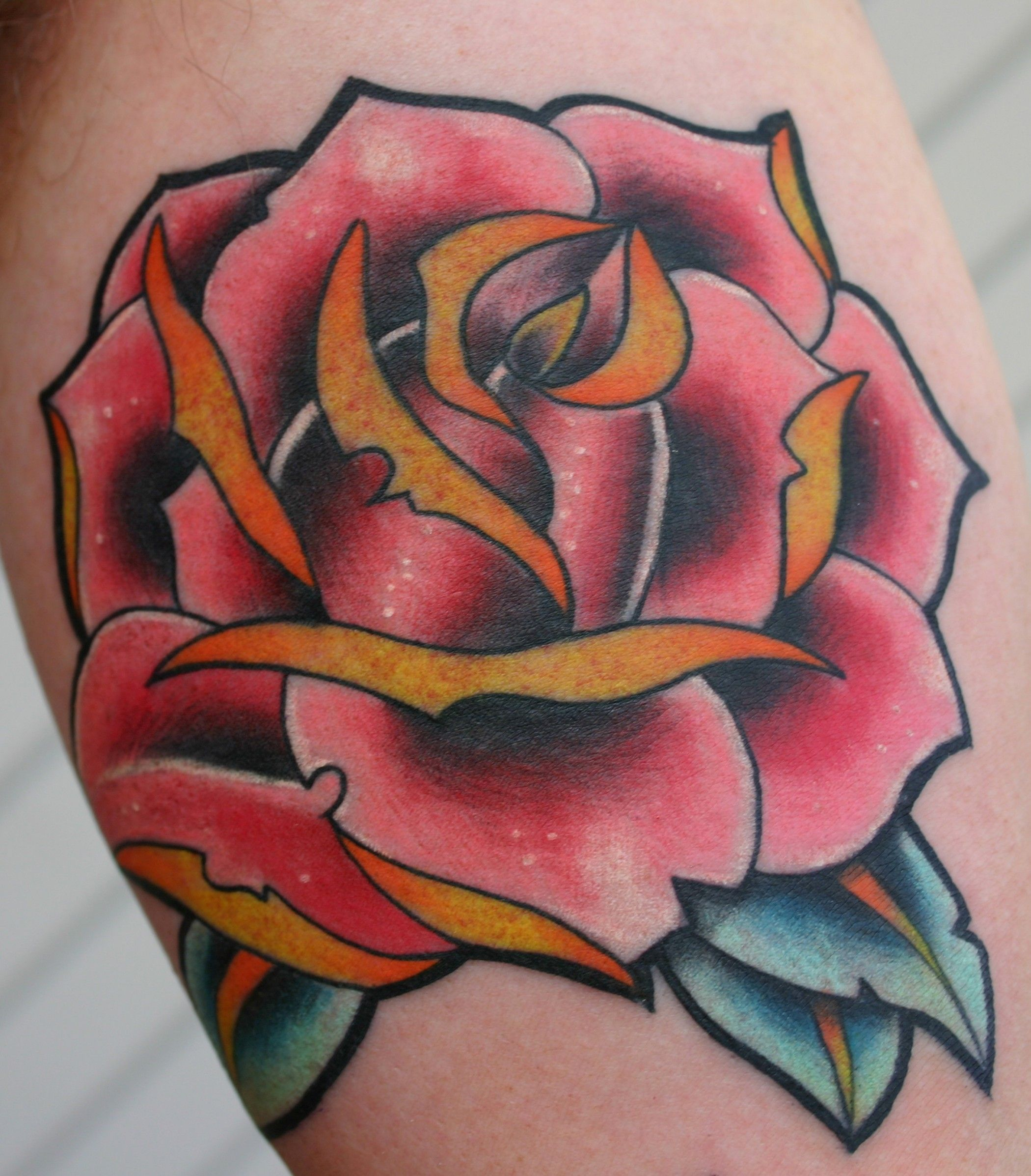 New school tattoo design - New Tattoo Design 2014 New School Rose Tattoo Similar Image And Photo In Costum Tatto0