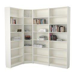 IKEA - BILLY, Knižnica, biela, 215/135x237x28 cm, , Nastaviteľné police; prispôsobte si rozsah políc podľa vašich požiadaviek.V obmedzenom pristore stačí jeden úložný diel, ktorý môže slúžiť aj ako základ pre ďalšie nadstavovanie.Povrch je vyrobený z prírodnej drevenej dyhy.Úzke police vám umožnia využiť aj malý nástenný priestor efektívne tak, že malé predmety uložíte na malom priestore.