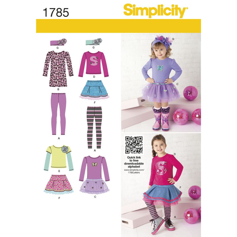Pattern for Toddlers\' & Child\'s Sportswear | Simplicity | Simplicity ...