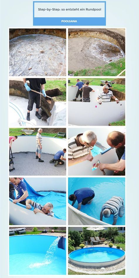 Stahlwand Rundpool So einfach bauen Sie Ihren Swimmingpool selbst - schwimmbad selber bauen