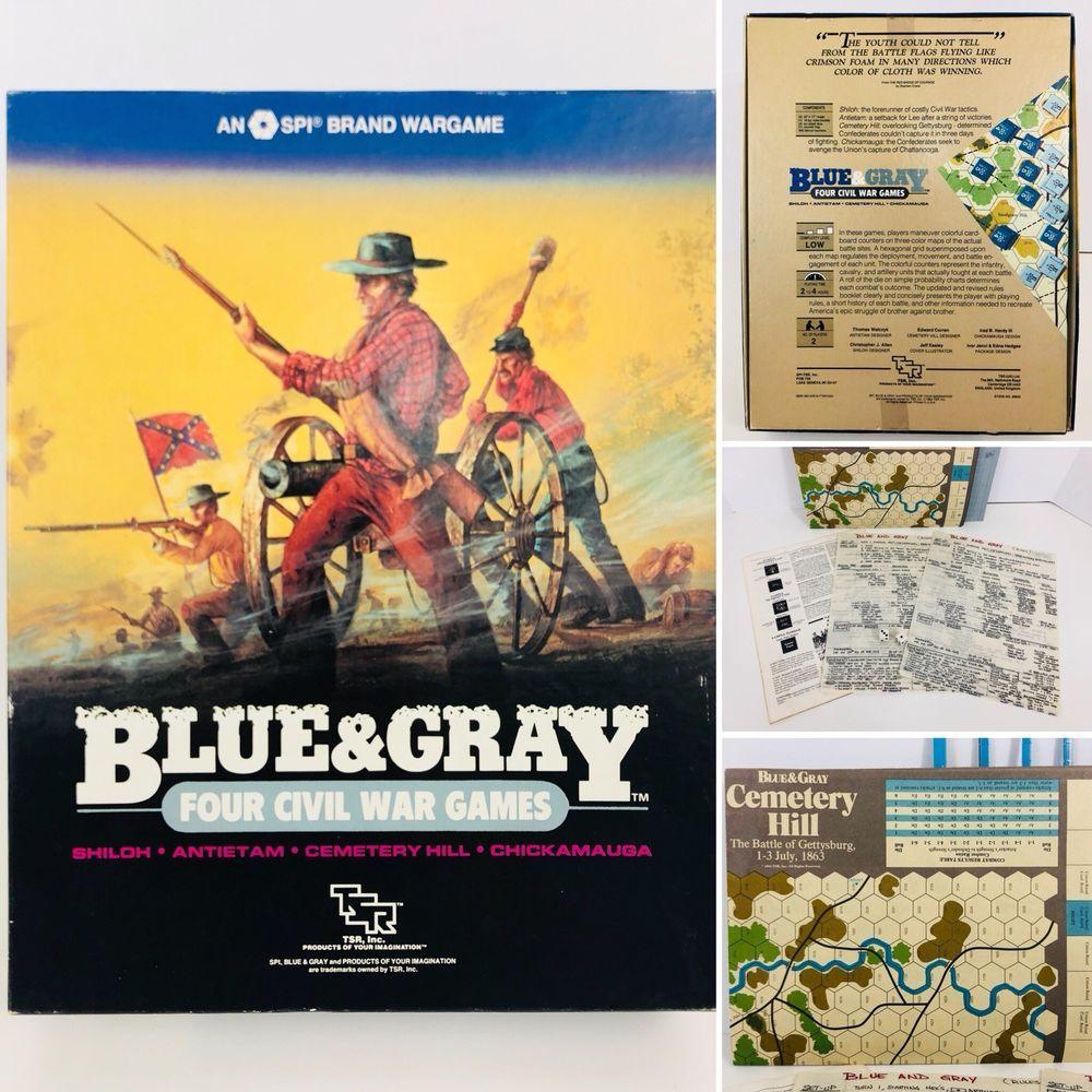 Vintage Blue & Gray Four Civil War Games (1984) TSR SPI