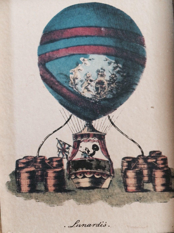 Vintage Framed Hot Air Balloon Print: Lunardi\'s | Globe Aérostatique ...