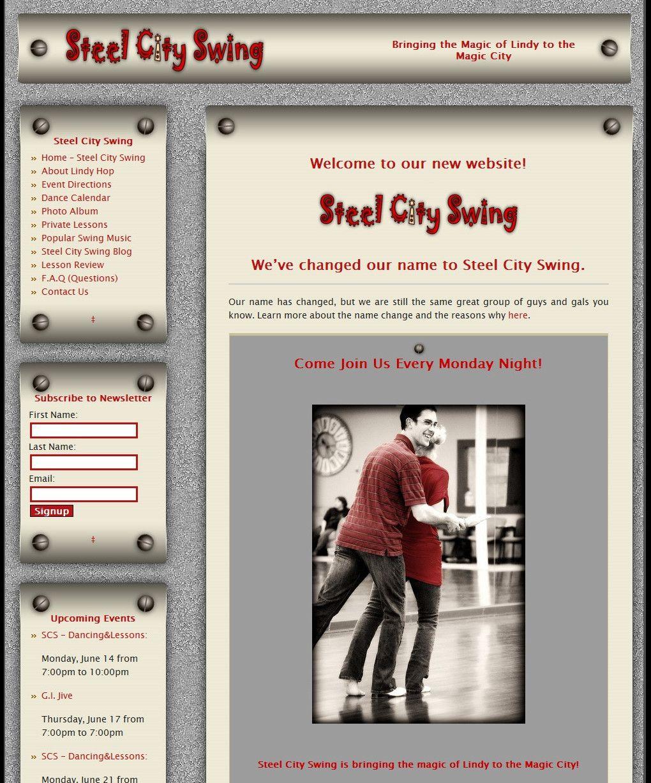 Steel City Swing #website #design