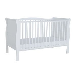 Kiddicare Sleigh Cot Bed White