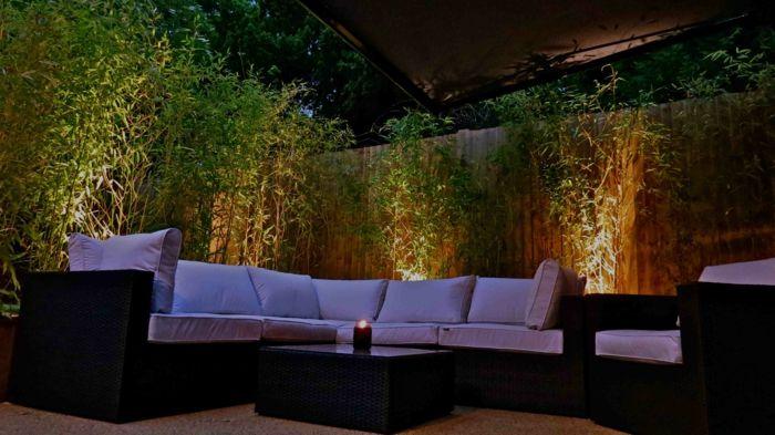 LED Beleuchtung Garten gehweg bambus Gartengestaltung u2013 Garten - bambus garten design