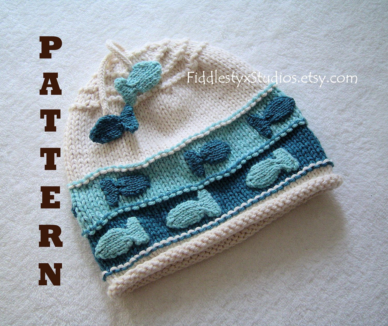 Hat Knitting Pattern - Nautical Fish Hat Pattern - the CHARLIE Hat ...
