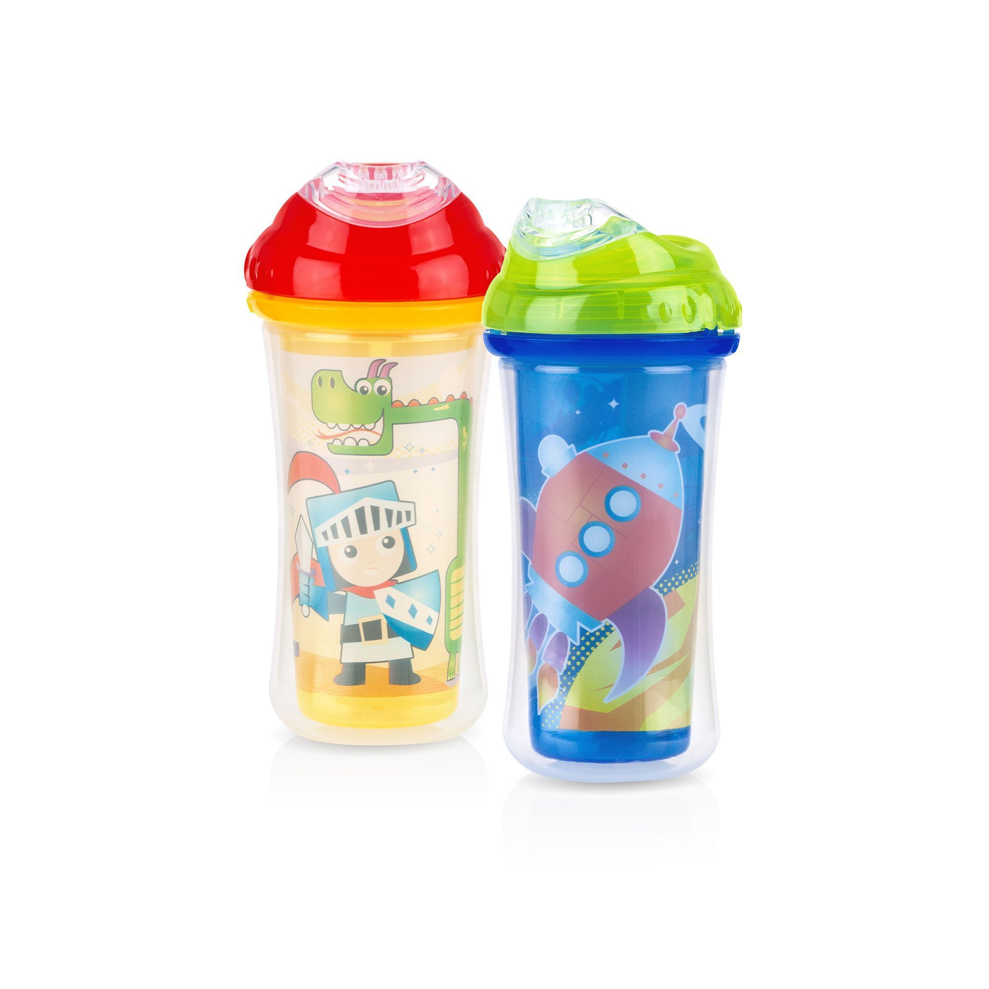 Nuby 9 Oz Insulated Clik It Cool Sipper Bottle Multicolor Baby Bottles Bottle Toddler Sippy Cups