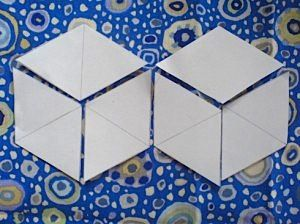 if you want to make a tumbling blocks quilt using the english