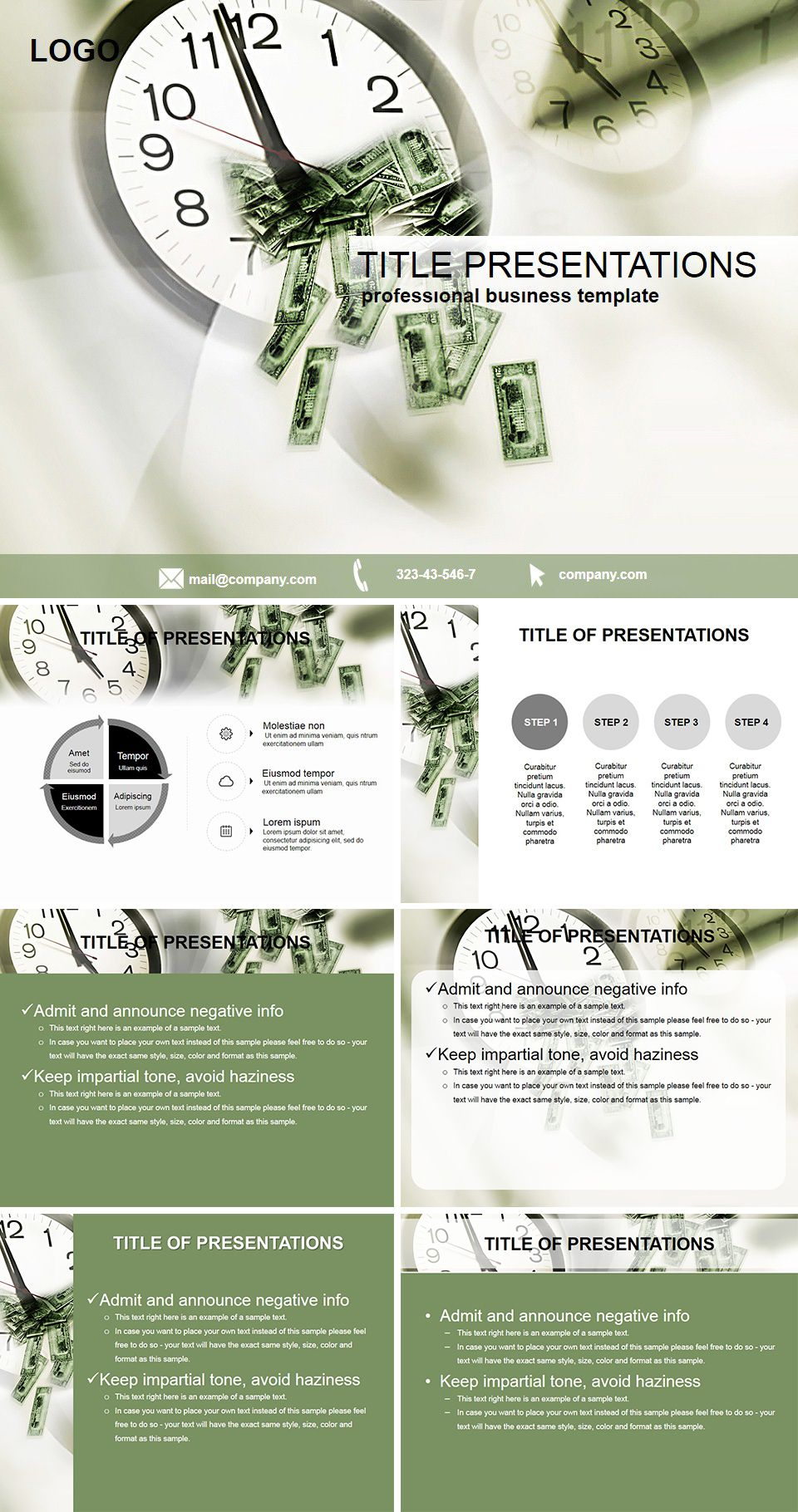 time to make money powerpoint template powerpoint templates