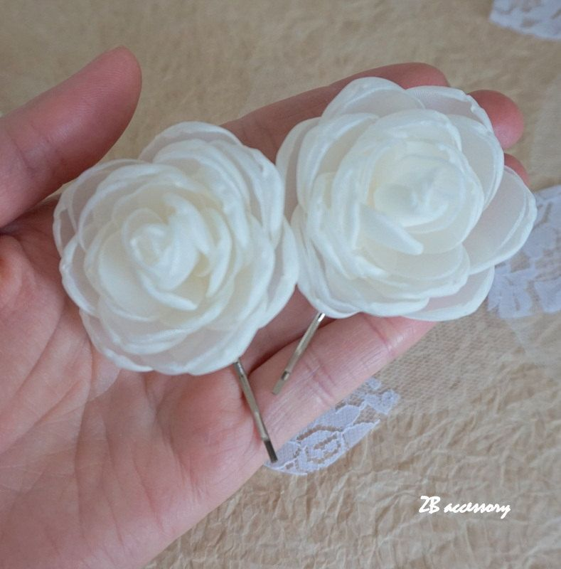 hair accessories ivory rose hair clip wedding flowers bridal headpiece hair clip pin bridal shoe clips sew on ornaments cream white