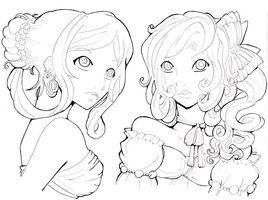 Deviantart More Like Cordelia Jewel Of The Sea Line By Namtia Cute Coloring Pages Coloring Pictures Coloring Pages