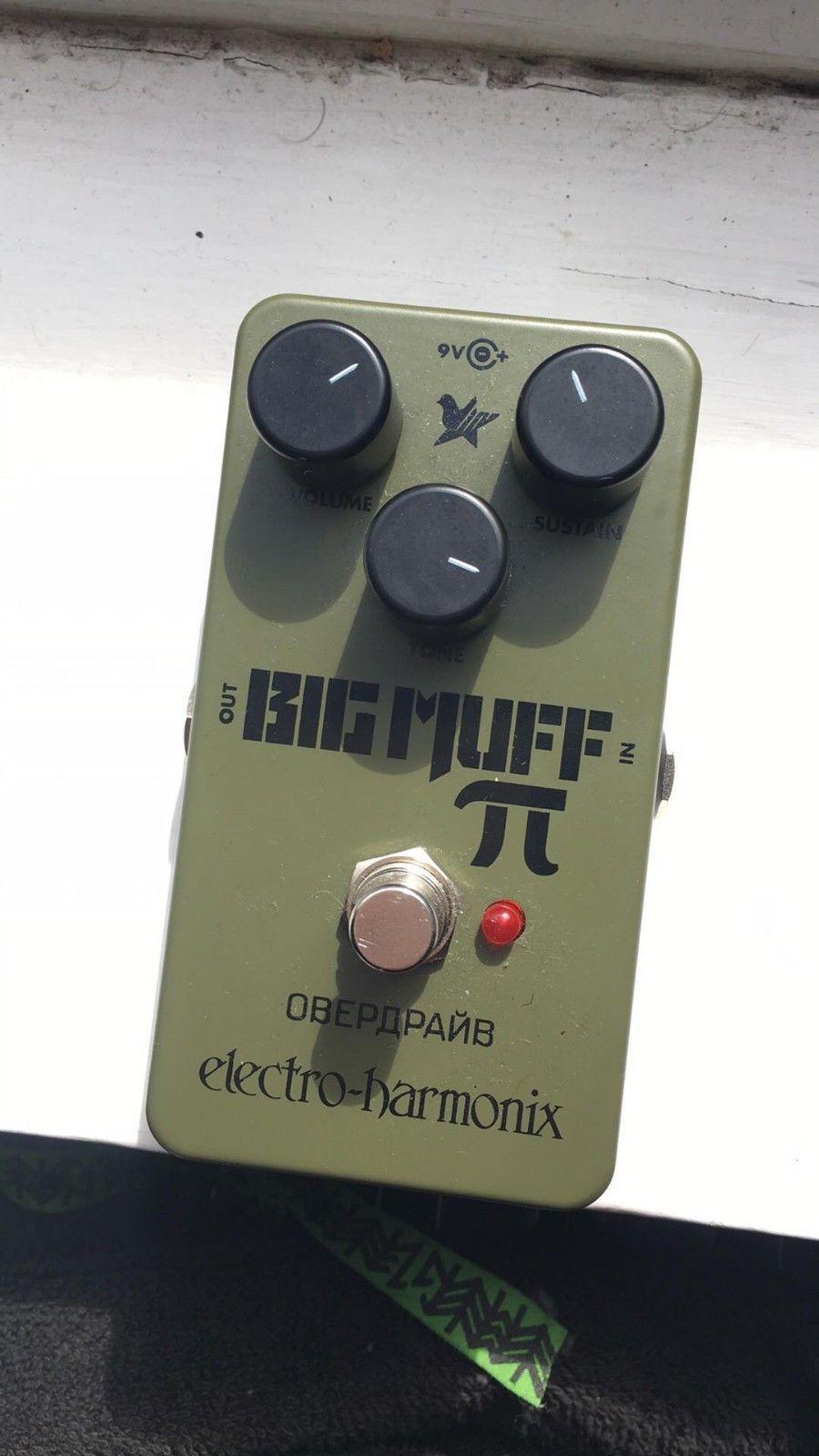 Electro Harmonix Ehx Green Russian Big Muff Pi Fuzz Guitar Effects Effect Pedal