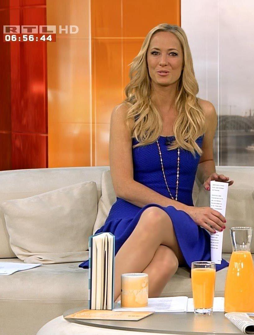 Angela Finger Erben RTL TV | Strapless dress, Fashion