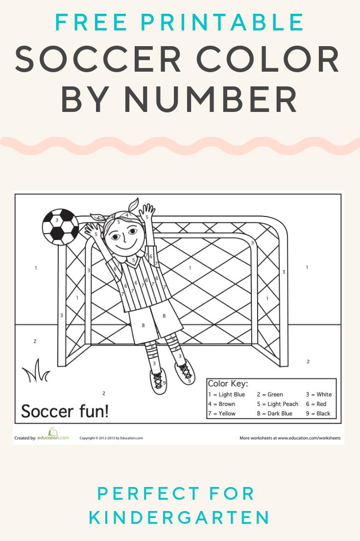 Soccer Color By Number Worksheet Education Com Elementary Activities Free Teaching Resources Kindergarten Activities