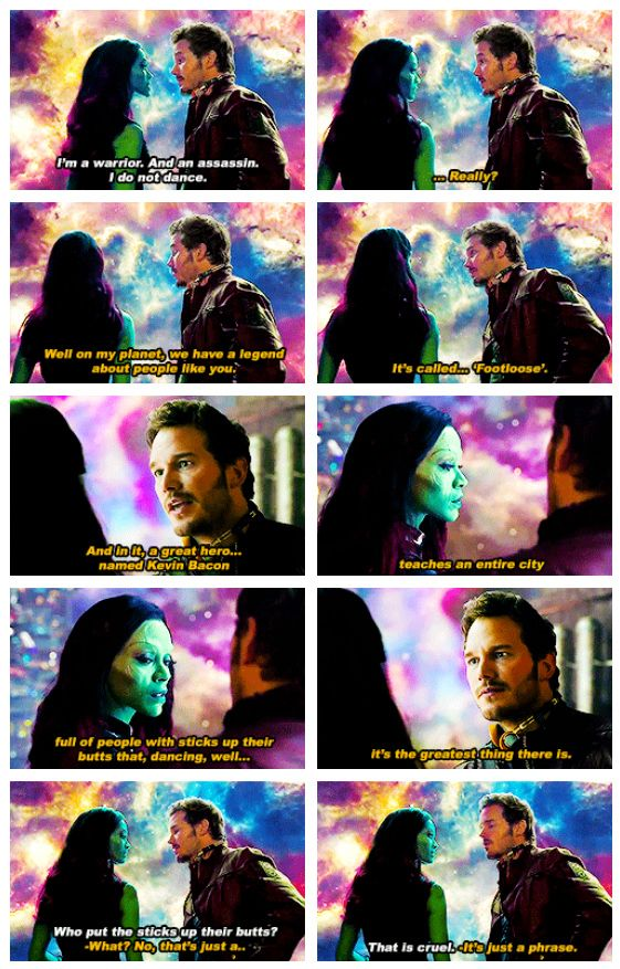 """""""Guardians of the Galaxy"""" - amazing part of the film. The entire cinema burst out laughing, it was awesome"""