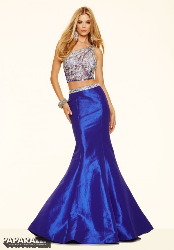Prom Dress 98039 2 Piece Sequined Beading on Net and Stretch Taffeta ...
