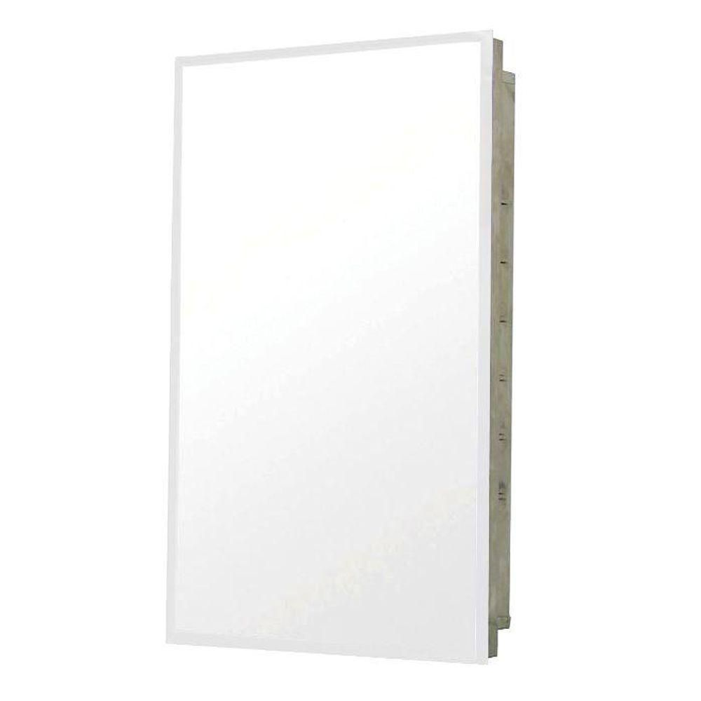 Pegasus 16 Inch X 20 Recessed Medicine Cabinet In Stainless Steel Bathroom