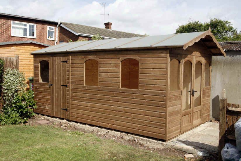 20 x 9 apex garden shed arched windows - Garden Sheds With Windows