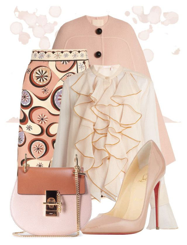 """Untitled #1134"" by theserialnester ❤ liked on Polyvore featuring Roksanda, Emilio Pucci, See by Chloé, Christian Louboutin and Chloé"