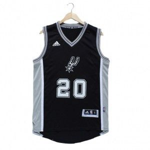 824006dd6 Mens San Antonio Spurs Manu Ginobili Number 20 Jersey Black For Christmas  http