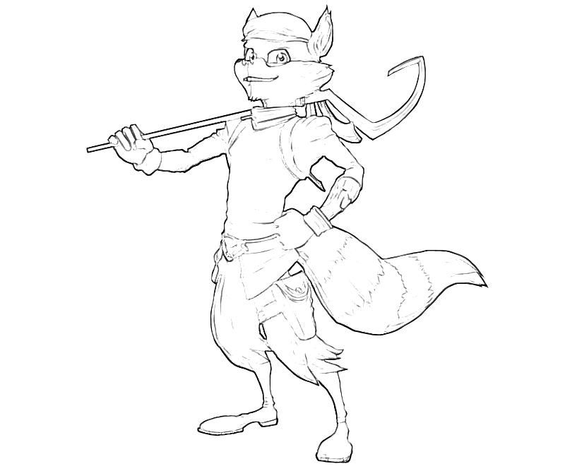 Sly Cooper Coloring Pages | Scuola | Pinterest