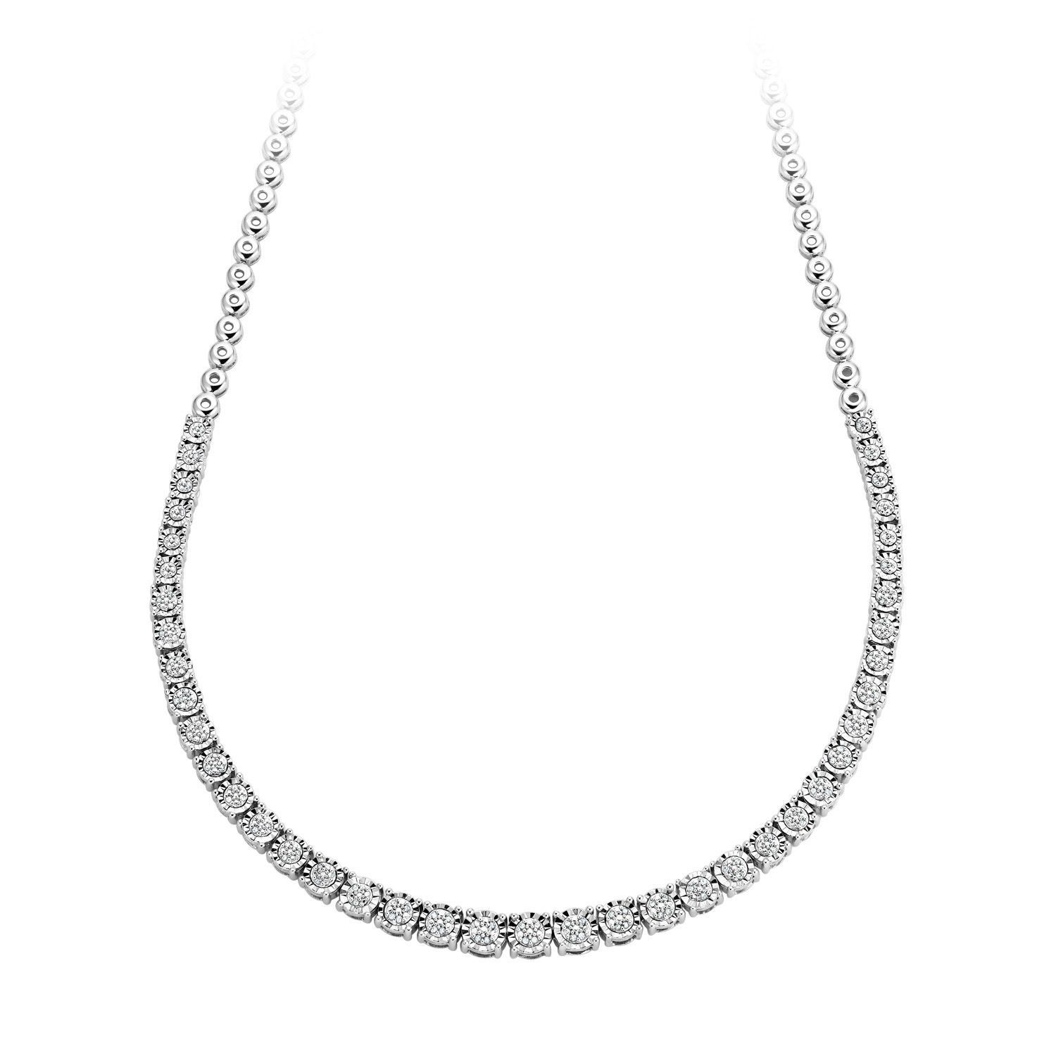 1 3 Ct Tw Diamond Necklace In Sterling Silver Diamond Jewelry Sterling Silver