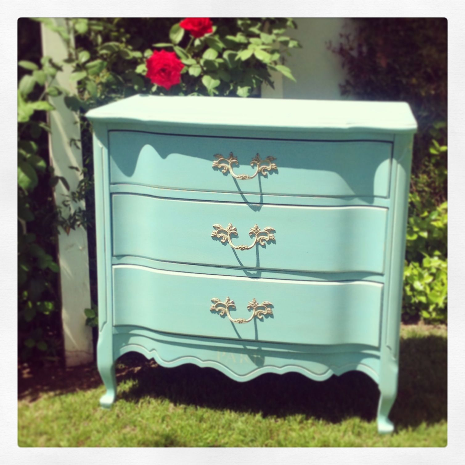 Best Turquoise French Provincial Small Dresser By Cottage Chic 400 x 300