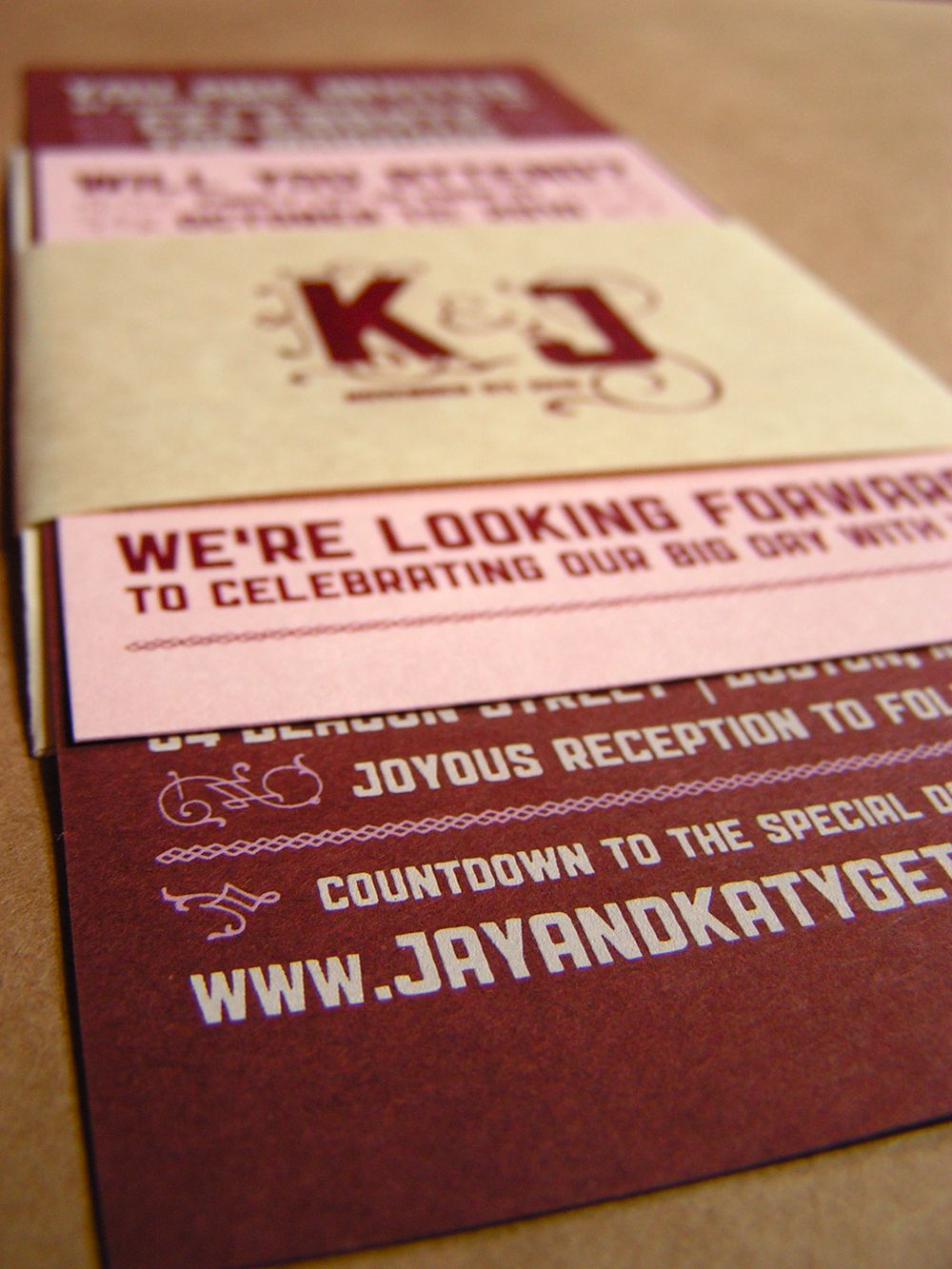 17 Best images about Screen print wedding invites – Pink and Red Wedding Invitations