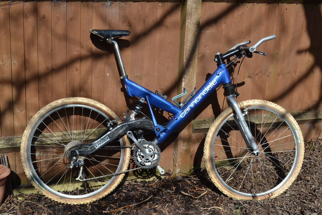23689f9f9f4 1996 Cannondale Super V 1000 full suspension retro mountain bike ...