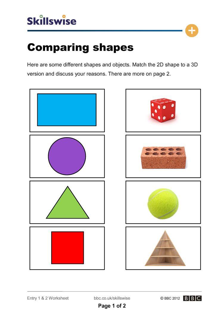 2d and 3d shapes worksheets for kindergarten