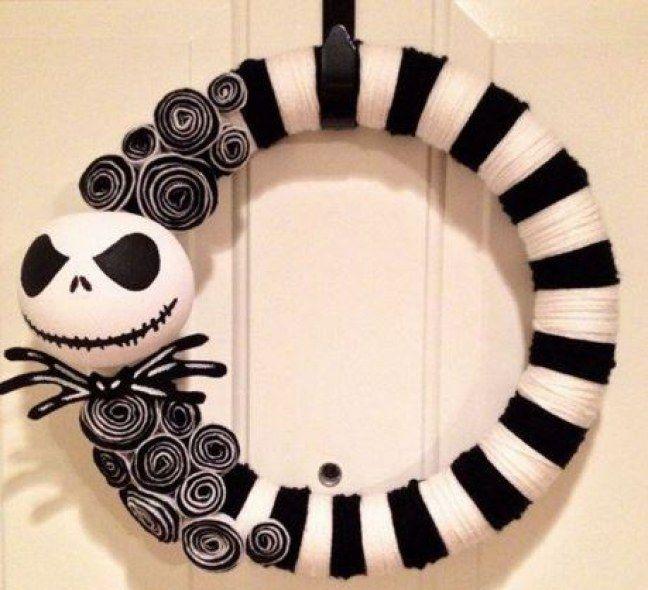 Halloween-Türdekoration: Einfache Halloween-Kränze zum Nachbasteln #julkrans