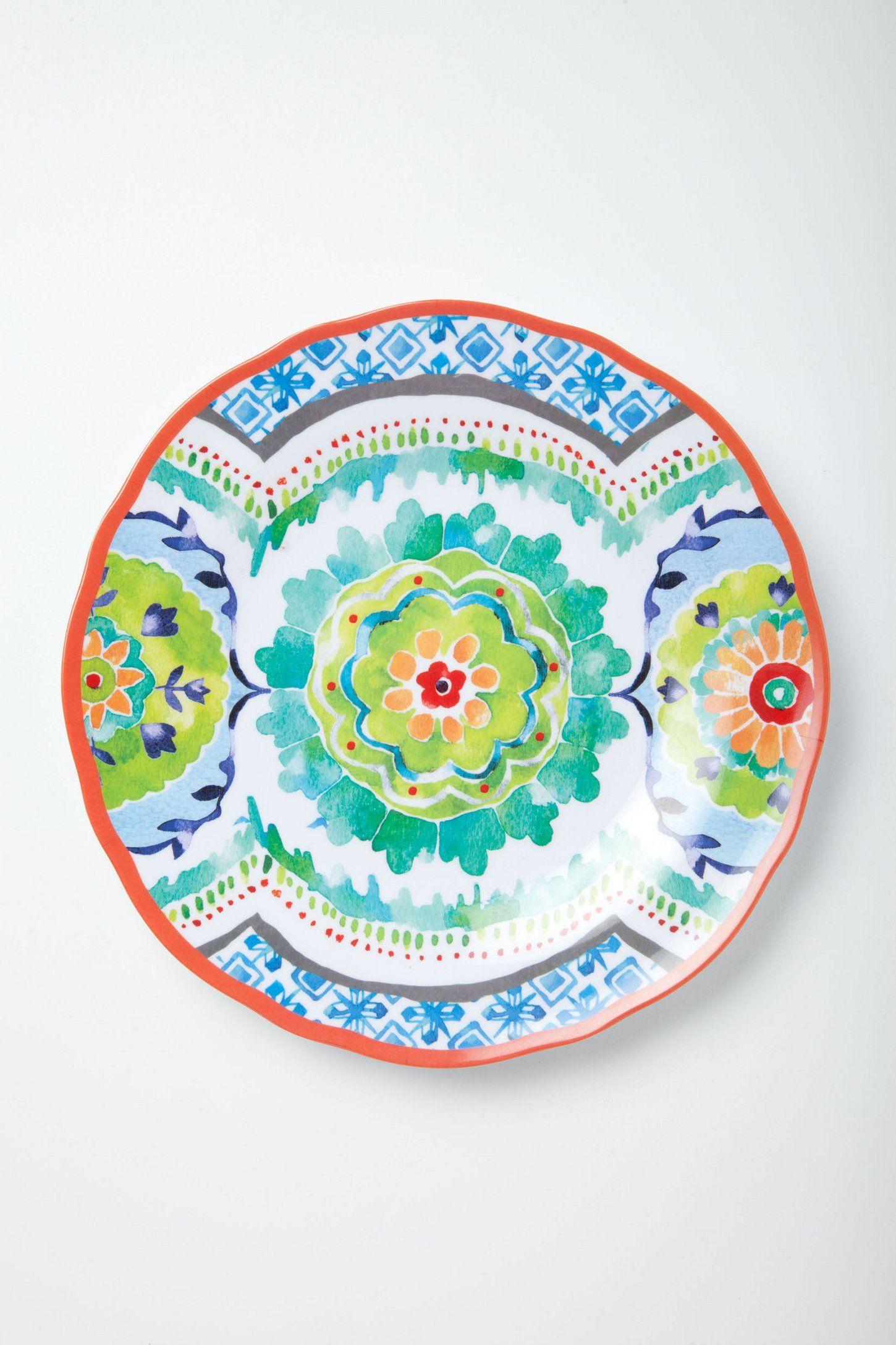 Ceramic plates · Hacienda Melamine Plate - Anthropologie.com  sc 1 st  Pinterest & Hacienda Melamine Plate - Anthropologie.com | global homewares ...