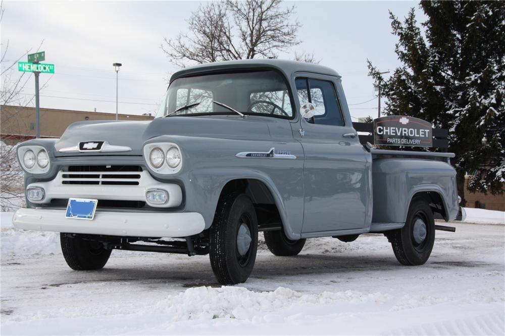 1958 Chevrolet Apache 3100 Pickup Classic Chevy Trucks Chevrolet Apache Classic Trucks