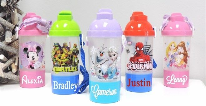 Personalized Bottles with Snack Holder, Only $6.99 (47% Off) -HotCouponWorld.com