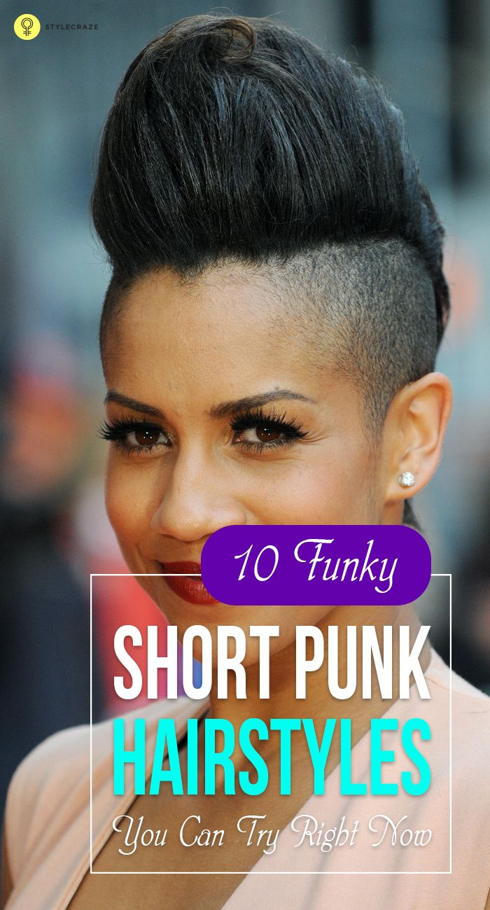 Makeup with light pink dress   Funky Short Punk Hairstyles You Can Try Right Now  Short punk