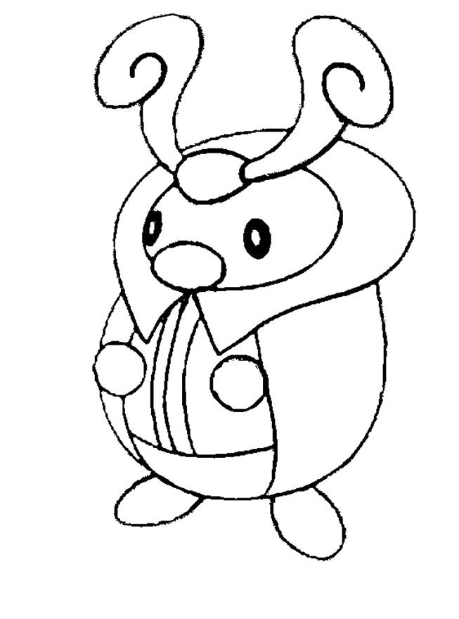 Kricketot Pokemon Coloring Pages Pokemon Coloring Pages