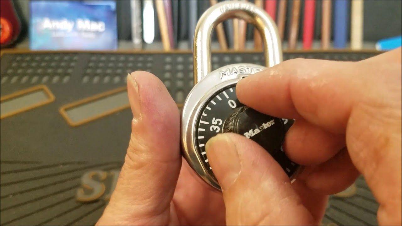 how to open a locker master lock